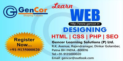 Web Designing Training And Syllabus With Fee Gencor